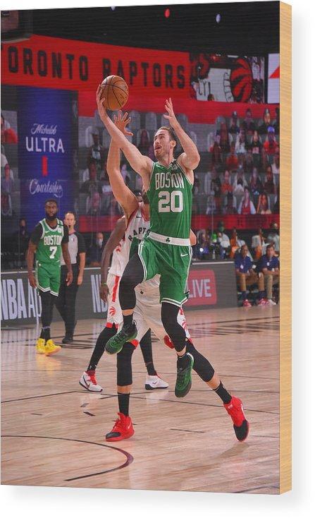 Nba Pro Basketball Wood Print featuring the photograph Gordon Hayward by Bill Baptist