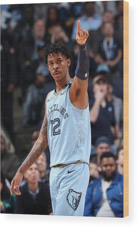Nba Pro Basketball Wood Print featuring the photograph Houston Rockets v Memphis Grizzlies by Joe Murphy