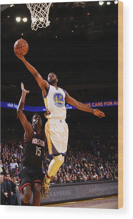 Nba Pro Basketball Wood Print featuring the photograph Ian Clark by Noah Graham