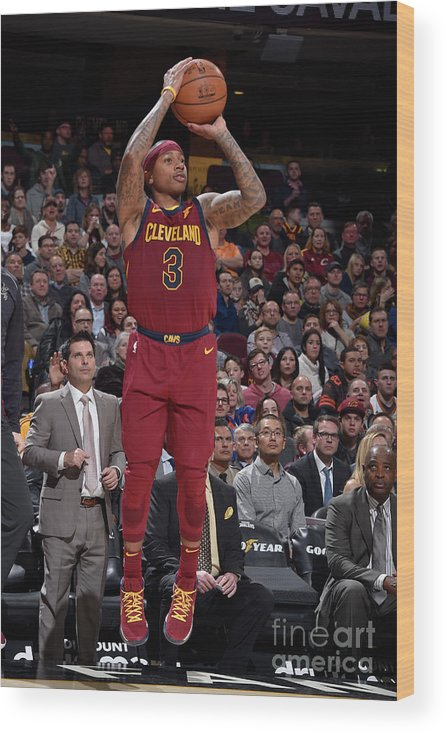 Nba Pro Basketball Wood Print featuring the photograph Isaiah Thomas by David Liam Kyle