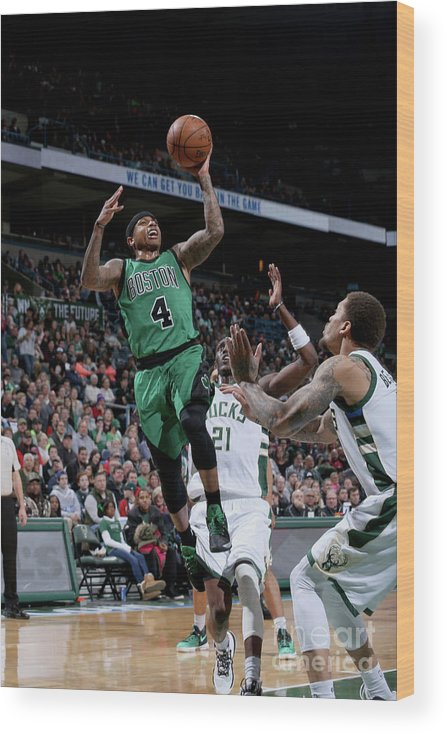 Nba Pro Basketball Wood Print featuring the photograph Isaiah Thomas by Gary Dineen