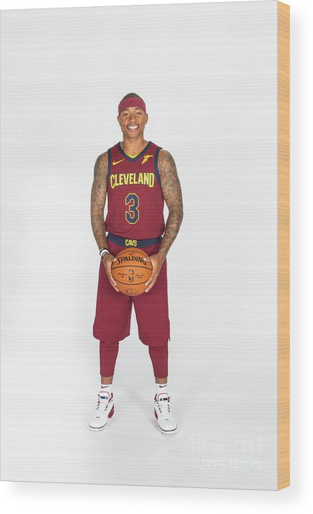 Media Day Wood Print featuring the photograph Isaiah Thomas by Michael J. Lebrecht Ii