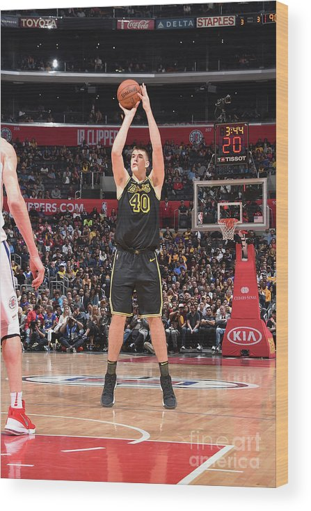 Sports Ball Wood Print featuring the photograph Ivica Zubac by Adam Pantozzi