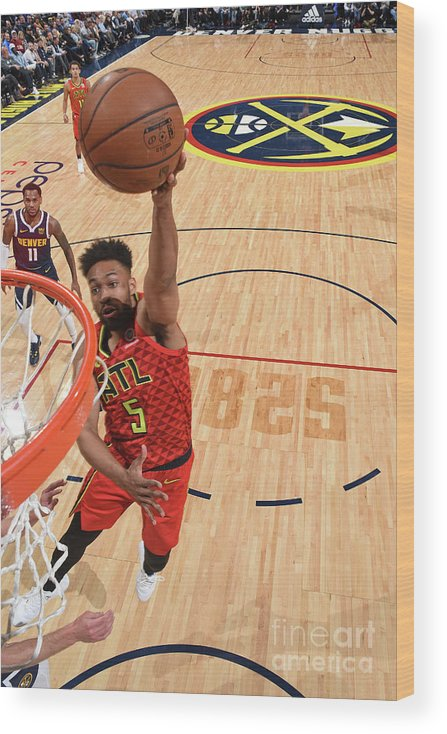 Nba Pro Basketball Wood Print featuring the photograph Jabari Parker by Garrett Ellwood