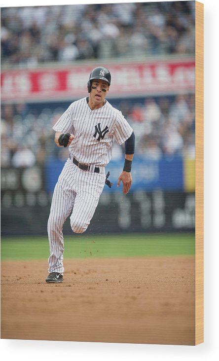 American League Baseball Wood Print featuring the photograph Jacoby Ellsbury by Rob Tringali