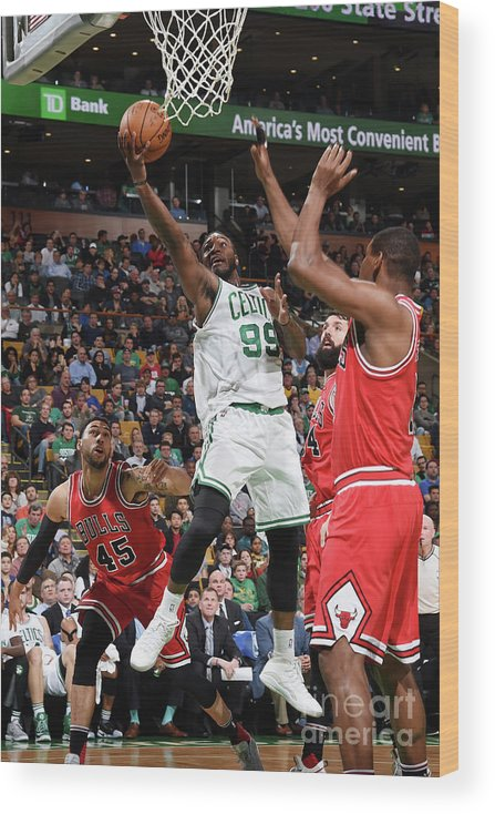 Nba Pro Basketball Wood Print featuring the photograph Jae Crowder by Brian Babineau