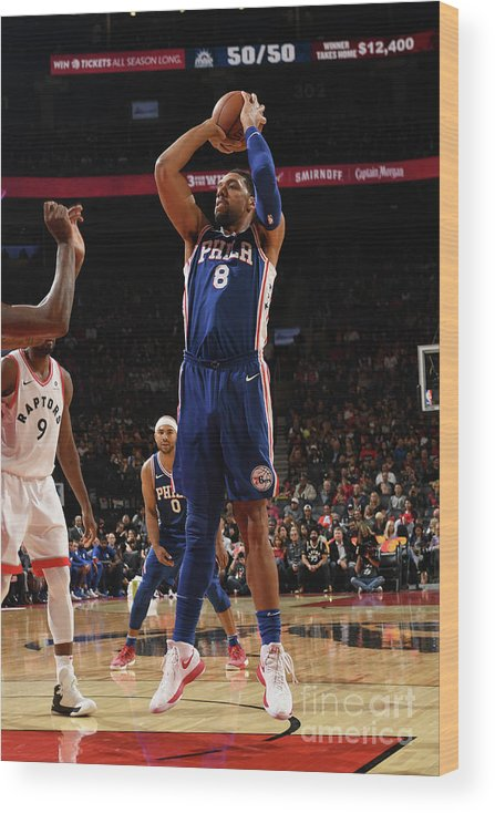 Nba Pro Basketball Wood Print featuring the photograph Jahlil Okafor by Ron Turenne
