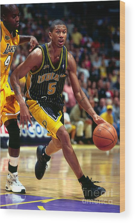 Playoffs Wood Print featuring the photograph Jalen Rose by Andy Hayt