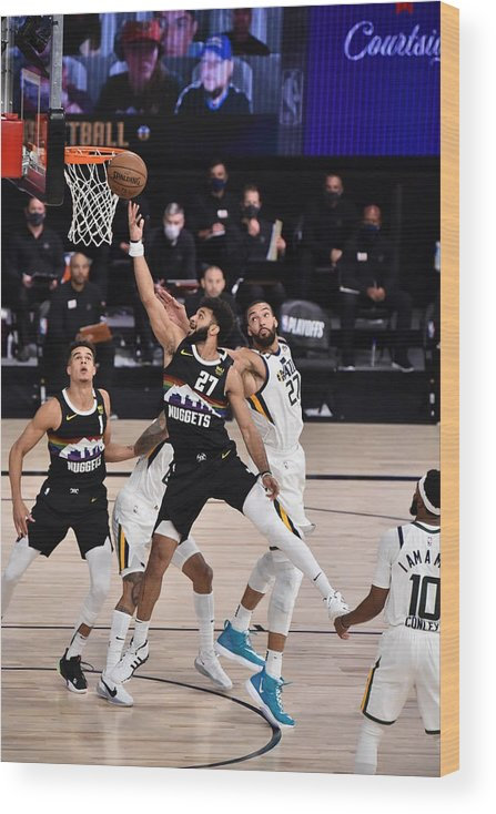 Playoffs Wood Print featuring the photograph Jamal Murray by David Dow