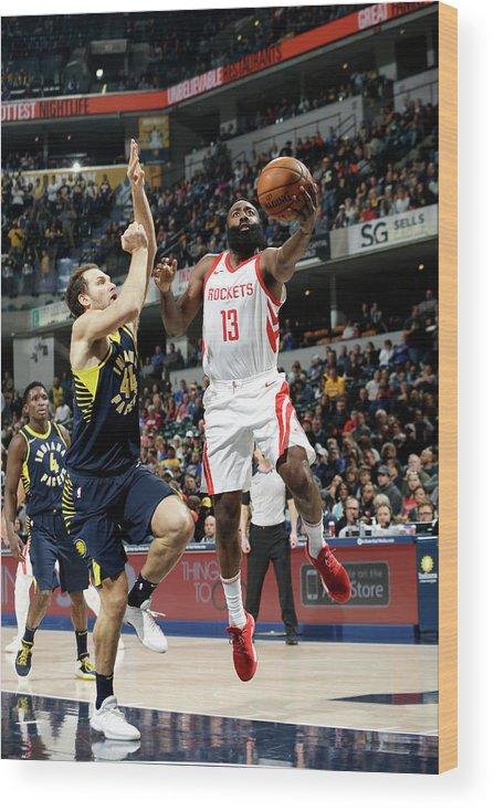 Nba Pro Basketball Wood Print featuring the photograph James Harden by Nba Photos