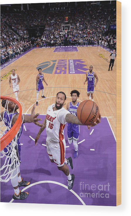 Nba Pro Basketball Wood Print featuring the photograph James Johnson by Rocky Widner