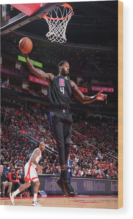 Nba Pro Basketball Wood Print featuring the photograph Jamychal Green by Bill Baptist