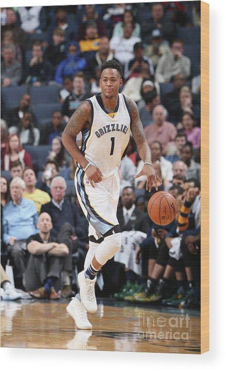 Nba Pro Basketball Wood Print featuring the photograph Jarell Martin by Joe Murphy
