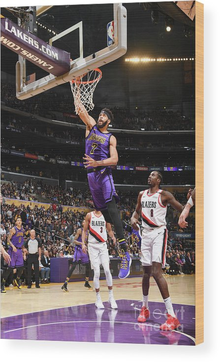 Nba Pro Basketball Wood Print featuring the photograph Javale Mcgee by Andrew D. Bernstein