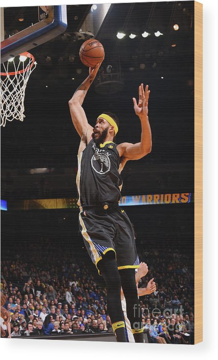 Nba Pro Basketball Wood Print featuring the photograph Javale Mcgee by Noah Graham