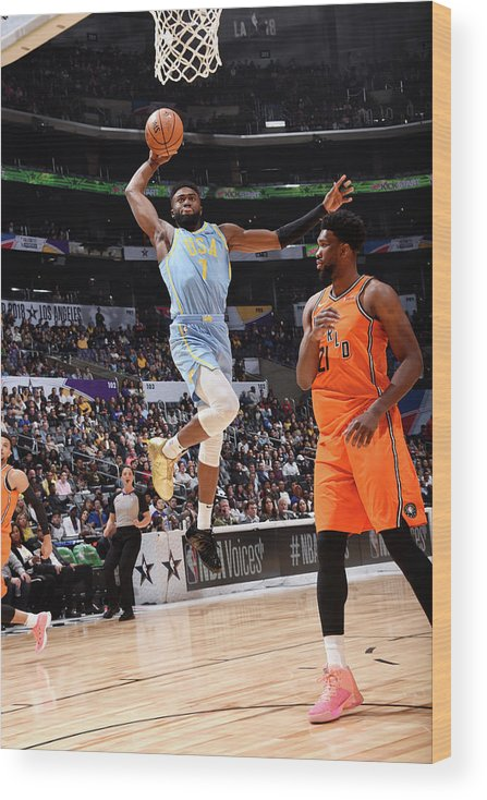 Event Wood Print featuring the photograph Jaylen Brown by Andrew D. Bernstein