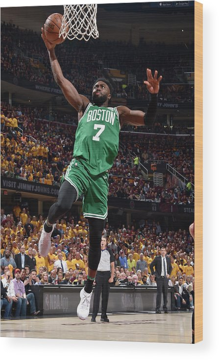 Playoffs Wood Print featuring the photograph Jaylen Brown by David Liam Kyle