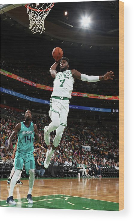 Nba Pro Basketball Wood Print featuring the photograph Jaylen Brown by Nathaniel S. Butler