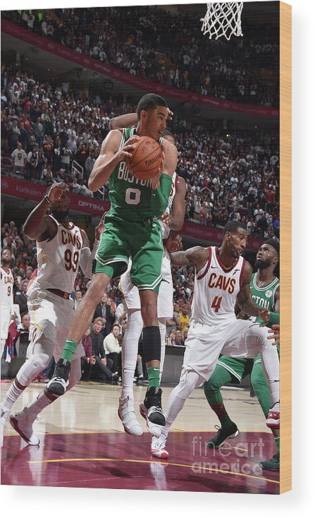 Nba Pro Basketball Wood Print featuring the photograph Jayson Tatum by David Liam Kyle