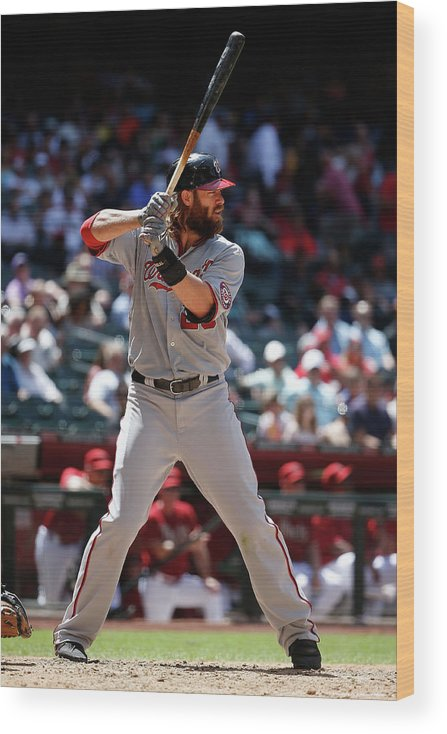 American League Baseball Wood Print featuring the photograph Jayson Werth by Christian Petersen