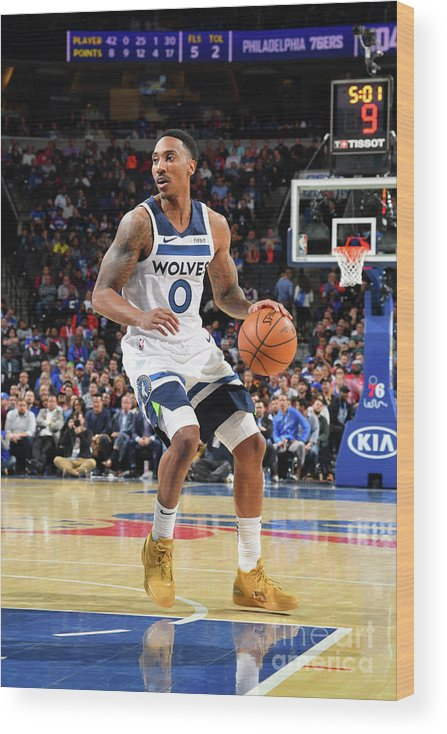 Nba Pro Basketball Wood Print featuring the photograph Jeff Teague by Jesse D. Garrabrant