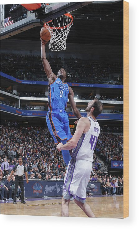 Nba Pro Basketball Wood Print featuring the photograph Jerami Grant by Rocky Widner