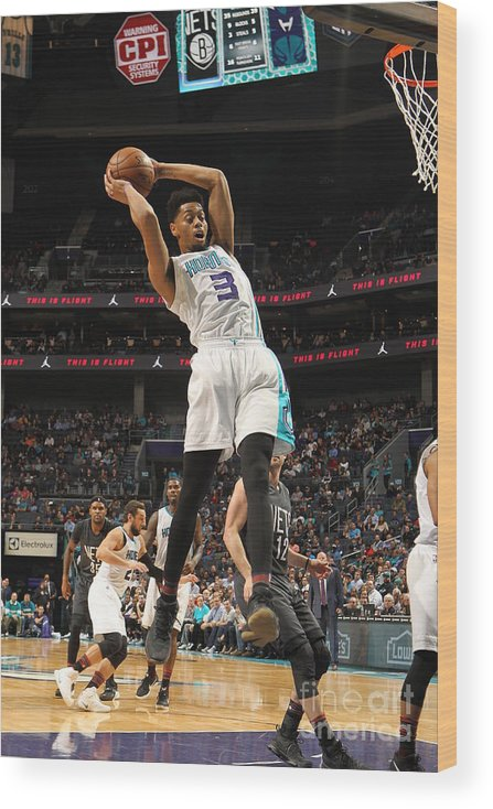 Nba Pro Basketball Wood Print featuring the photograph Jeremy Lamb by Brock Williams-smith