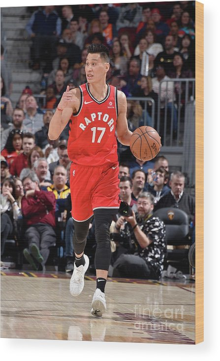 Nba Pro Basketball Wood Print featuring the photograph Jeremy Lin by David Liam Kyle