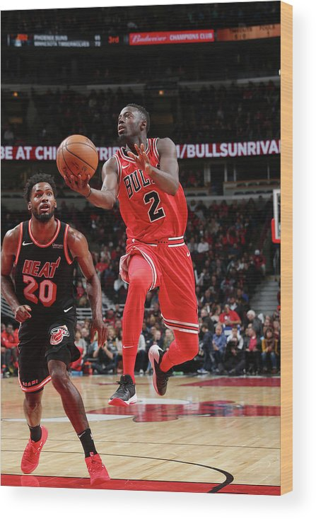 Nba Pro Basketball Wood Print featuring the photograph Jerian Grant by Gary Dineen