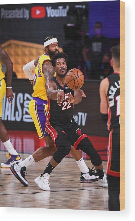 Playoffs Wood Print featuring the photograph Jimmy Butler by Garrett Ellwood