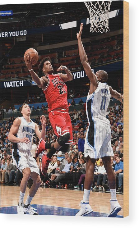 Nba Pro Basketball Wood Print featuring the photograph Jimmy Butler by Gary Bassing