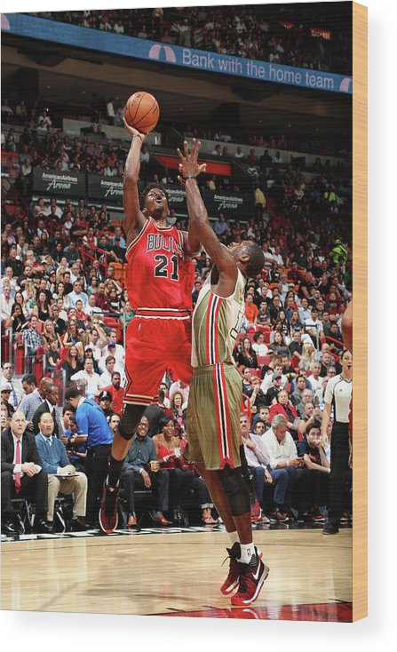 Nba Pro Basketball Wood Print featuring the photograph Jimmy Butler by Joe Murphy