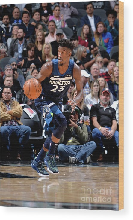 Nba Pro Basketball Wood Print featuring the photograph Jimmy Butler by Mark Sobhani
