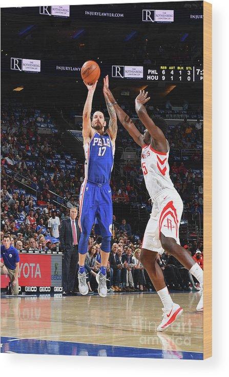 Nba Pro Basketball Wood Print featuring the photograph J.j. Redick by Jesse D. Garrabrant