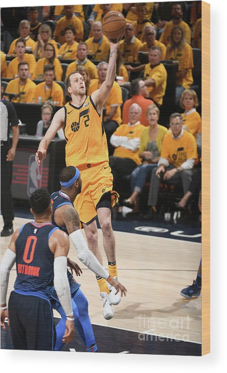 Playoffs Wood Print featuring the photograph Joe Ingles by Garrett Ellwood