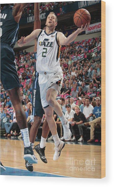 Nba Pro Basketball Wood Print featuring the photograph Joe Ingles by Glenn James