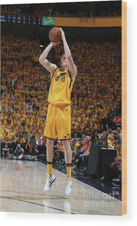 Playoffs Wood Print featuring the photograph Jonas Jerebko by Melissa Majchrzak