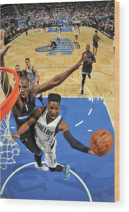 Nba Pro Basketball Wood Print featuring the photograph Jonathan Gibson by Fernando Medina