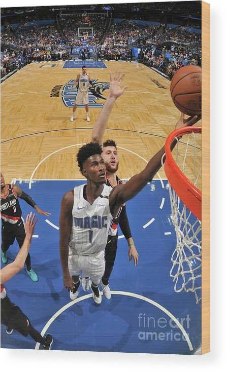 Nba Pro Basketball Wood Print featuring the photograph Jonathan Isaac by Fernando Medina