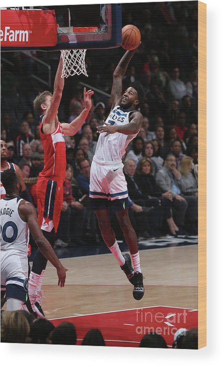 Nba Pro Basketball Wood Print featuring the photograph Jordan Bell by Ned Dishman