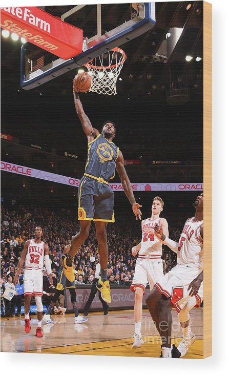 Nba Pro Basketball Wood Print featuring the photograph Jordan Bell by Noah Graham