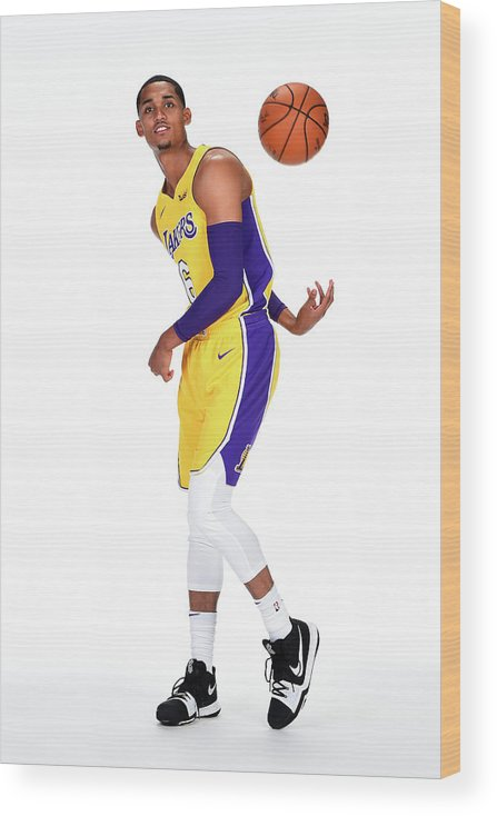 Media Day Wood Print featuring the photograph Jordan Clarkson by Andrew D. Bernstein