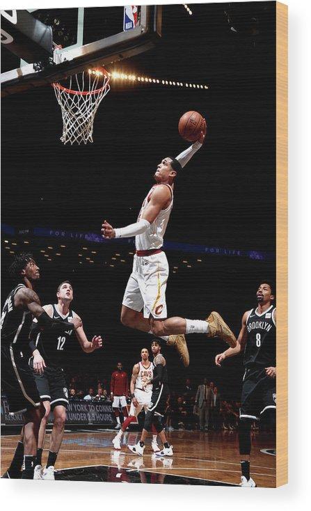 Nba Pro Basketball Wood Print featuring the photograph Jordan Clarkson by Nathaniel S. Butler