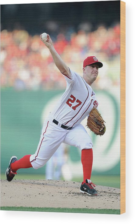 Second Inning Wood Print featuring the photograph Jordan Zimmermann by Greg Fiume