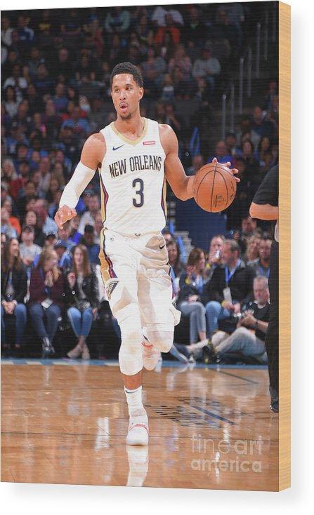 Nba Pro Basketball Wood Print featuring the photograph Josh Hart by Bill Baptist