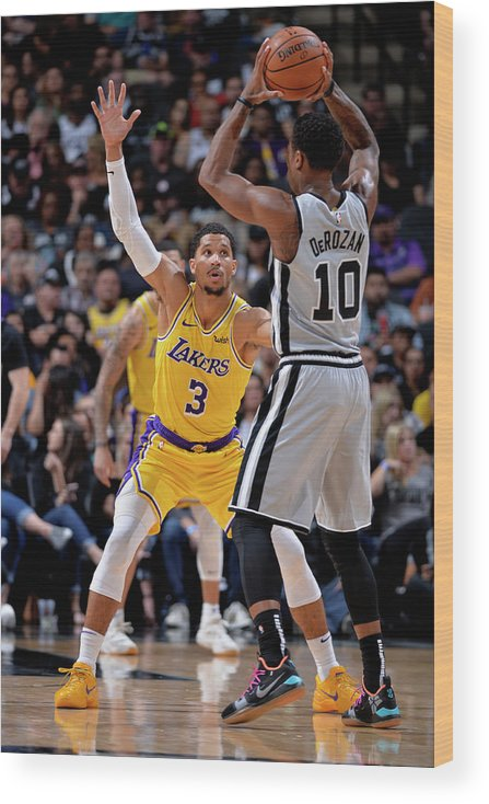 Nba Pro Basketball Wood Print featuring the photograph Josh Hart by Mark Sobhani