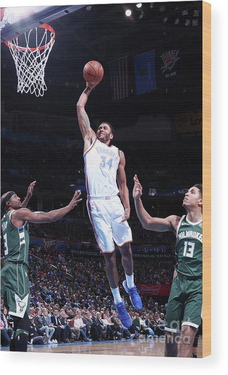 Nba Pro Basketball Wood Print featuring the photograph Josh Huestis by Nathaniel S. Butler