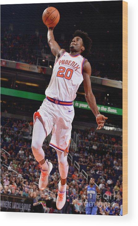 Nba Pro Basketball Wood Print featuring the photograph Josh Jackson by Barry Gossage