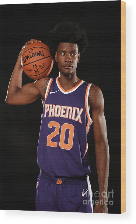 Nba Pro Basketball Wood Print featuring the photograph Josh Jackson by Brian Babineau