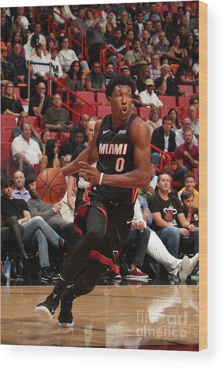 Nba Pro Basketball Wood Print featuring the photograph Josh Richardson by Issac Baldizon